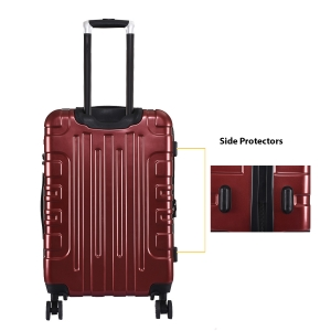 CAT Cityscape ABS 74.9 CM Wine Red Hardside lightweight Check In Suitcase/trolley (83660-134)