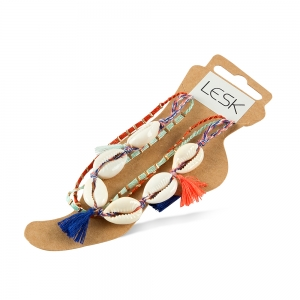 Lesk Anklet for Women with Shell embellishments