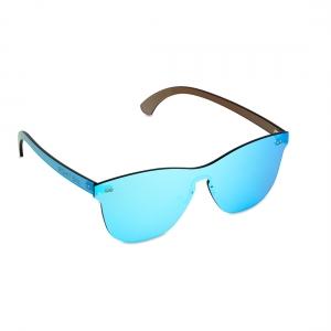 Rohit Bal Ice Blue Mirrored Rimless Oval Sunglasses