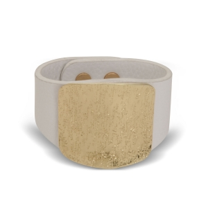 Lesk Wide Leather Cuff Bracelet