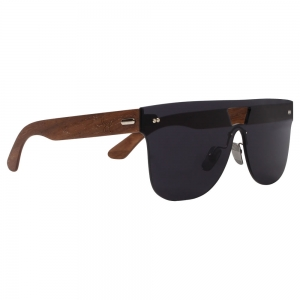 Rohit Bal Walnut Wood Double Bridged Sunglasses for Men