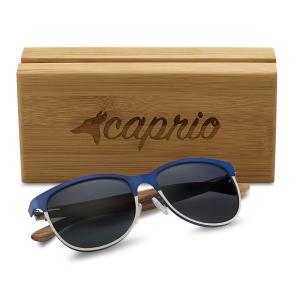 Caprio Wooden Classic Rectangular Sunglasses for Women