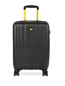 CAT Unisex Black Turbo Spinner Extremely lightweight Check In Medium Softside Trolley Suitcase 24 Inches _ 60.96 CM