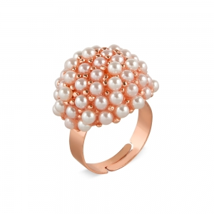 Lesk Adjustable Finger Ring for Women with Pearls.