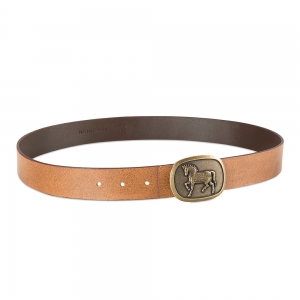 Rohit Bal Genuine Leather belt with Tiger Design (100 Cms.)