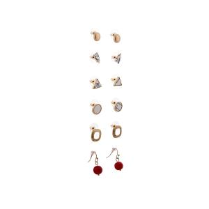 Lesk Assorted Set of 6 Earrings