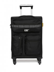 CAT Unisex Black Cube Combat VisiFlash Expandable Cabin/Carry On Small Softside Trolley Suitcase 20 Inches 50.8 CM