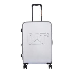 CAT Matte Shell ABS 65.5 CM Starlight Silver Hardside lightweight Check In Suitcase/trolley (Cat-D 83682-362)