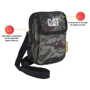 CAT Unisex Pollux Olive/Chocolate Sling/Crossover shoulder iPad mini/Messenger Bag  (83603-398)