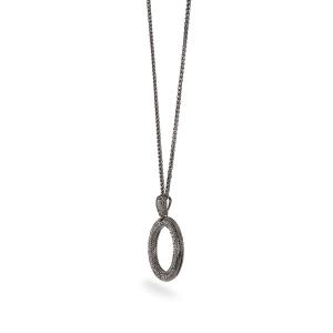 Lesk Embellished Ring Long Necklace