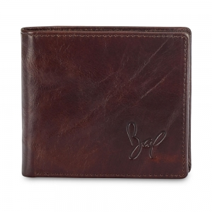 Rohit Bal Leather Slim Billfold Wallet for Men