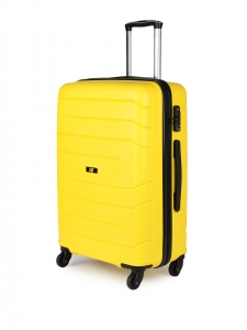 CAT Crosscheck Polypropylene 67.5 CM Yellow Hardside lightweight Check In Suitcase/trolley (83547-42)