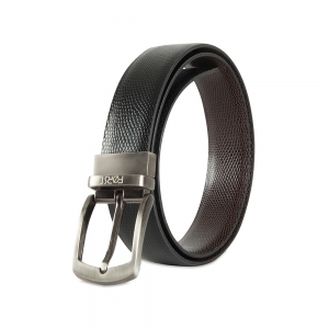 Genuine Leather Reversible Belt for Mens-86.36cm