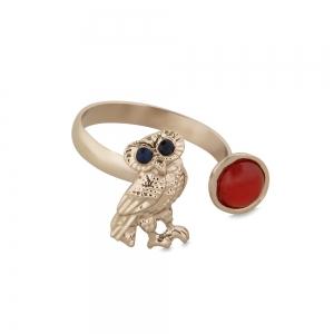 Lesk Owl Shaped Adjustable Finger Ring for Women