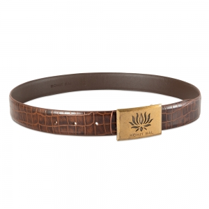 Rohit Bal Leather Belt with Crocodile effect (90 Cms.)