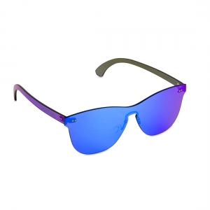 Rohit Bal Blue Mirrored Rimless Oval Sunglasses