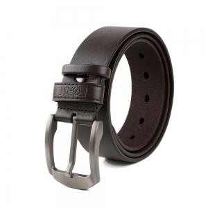 Brushed Leather Belt for Men (32/34)