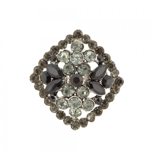 Lesk Adjustable Finger Ring for Women with Stone Embellishments.