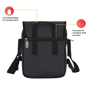 CAT Unisex Synergy Black Sling/Crossover shoulder/Messenger Bag  (83681-01)
