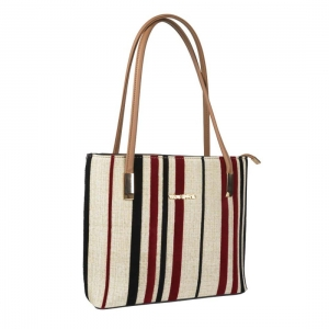 Stripe Design Shoulder Bag for Women