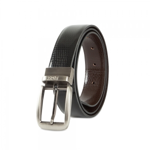 Genuine Leather Reversible Belt for Men-86.36 cm