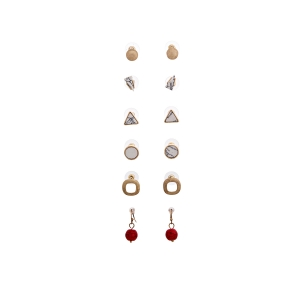 Lesk Assorted Set of 6 Earrings