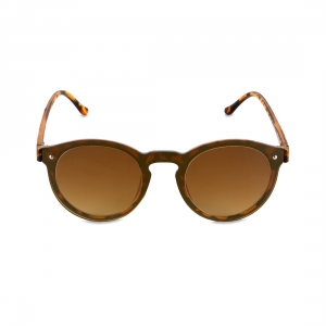 Rohit Bal Brown & Grey Graduated Round Sunglasses