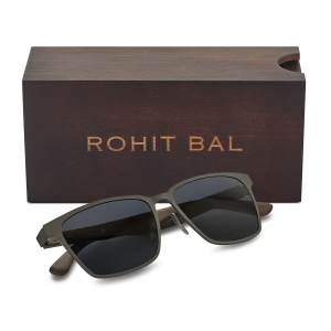 Rohit Bal Unisex Titanium Square Sunglasses