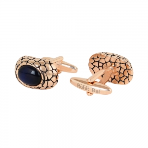 Rohit Bal Big Stone Crackle Cufflinks