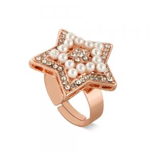 Lesk Star Shapped Adjustable Finger Ring for Women