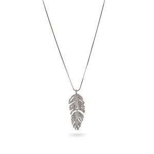 Lesk Long Leaf Necklace
