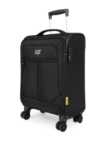 CAT Unisex Black Hammer Expandable Cabin/Carry On Small Softside Trolley Suitcase 20 Inches _ 50.8 CM