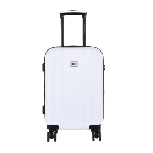 CAT Orion ABS 54.5 CM White Hardside lightweight Cabin Suitcase/trolley (83654-1009)