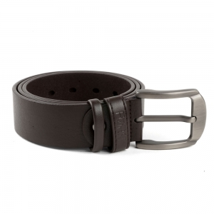 Brushed Leather Belt for Men (32/34)