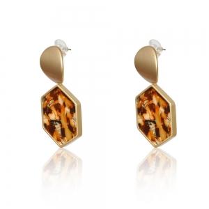 Lesk Patterned Drop Earrings