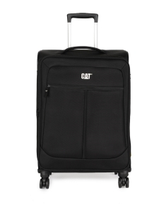 CAT Unisex Black Hammer Expandable Check In Medium Softside Trolley Suitcase 24 Inches _ 60.96 CM