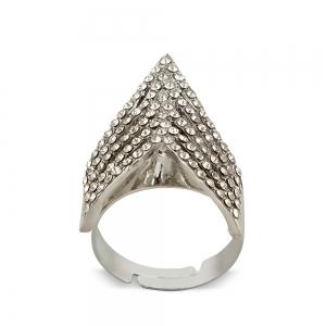 Lesk Layered Adjustable Finger Ring for Women.