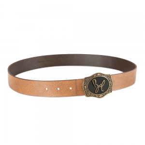 Rohit Bal Genuine Leather belt with Tiger Design (95 Cms.)
