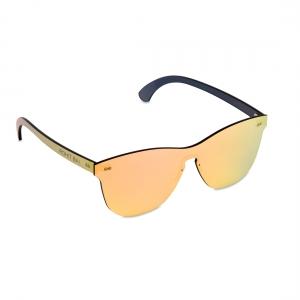 Rohit Bal Pink Mirrored Rimless Oval Sunglasses
