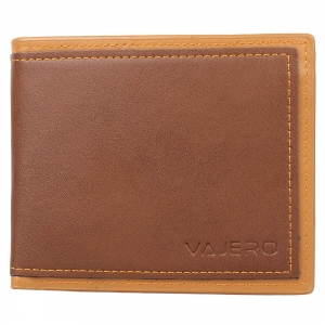 Vajero Leather Wallet  with Contrast Trims for Men