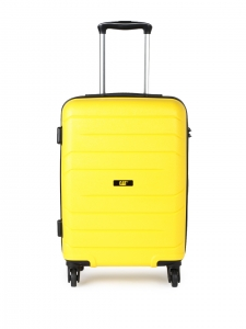 CAT Crosscheck Polypropylene 56 CM Yellow Hardside lightweight Cabin Suitcase/trolley (83546-42)