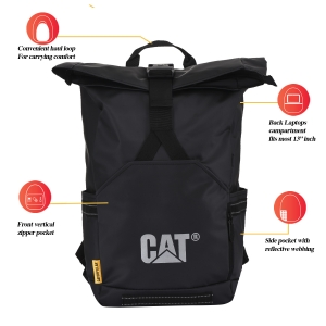 CAT Unisex Arches 2.0 22 Ltrs 3 Compartment Black Solid 13 Laptop Backpack (83640-01)