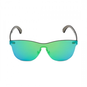 Rohit Bal Green Mirrored Rimless Oval Sunglasses