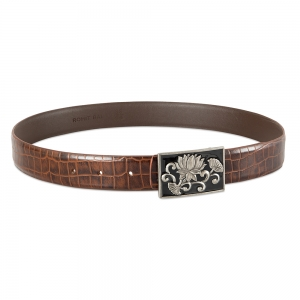 Rohit Bal Leather Belt with Crocodile effect (100 Cms.)