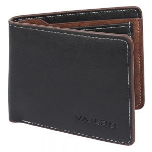 Vajero Bi- Fold Textured Leather Wallet for Men