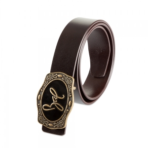 Rohit Bal Signature Buckle Black Italian leather Belt (28/30)