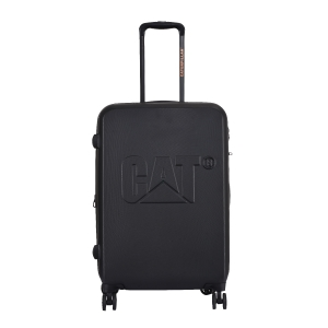 CAT Matte Shell ABS 65.5 CM Black Hardside lightweight Check In Suitcase/trolley (Cat-D 83682-82)