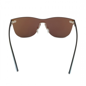 Rohit Bal Ice Blue Mirrored Rimless Oval Sunglasses