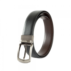 Genuine Leather Reversible Belt for Men - 86.36 cm