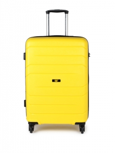 CAT Crosscheck Polypropylene 78.5 CM Yellow Hardside lightweight Check In Suitcase/trolley (83548-42)